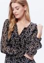 Paige Denim Ambrosine Blouse - Black & Lilac