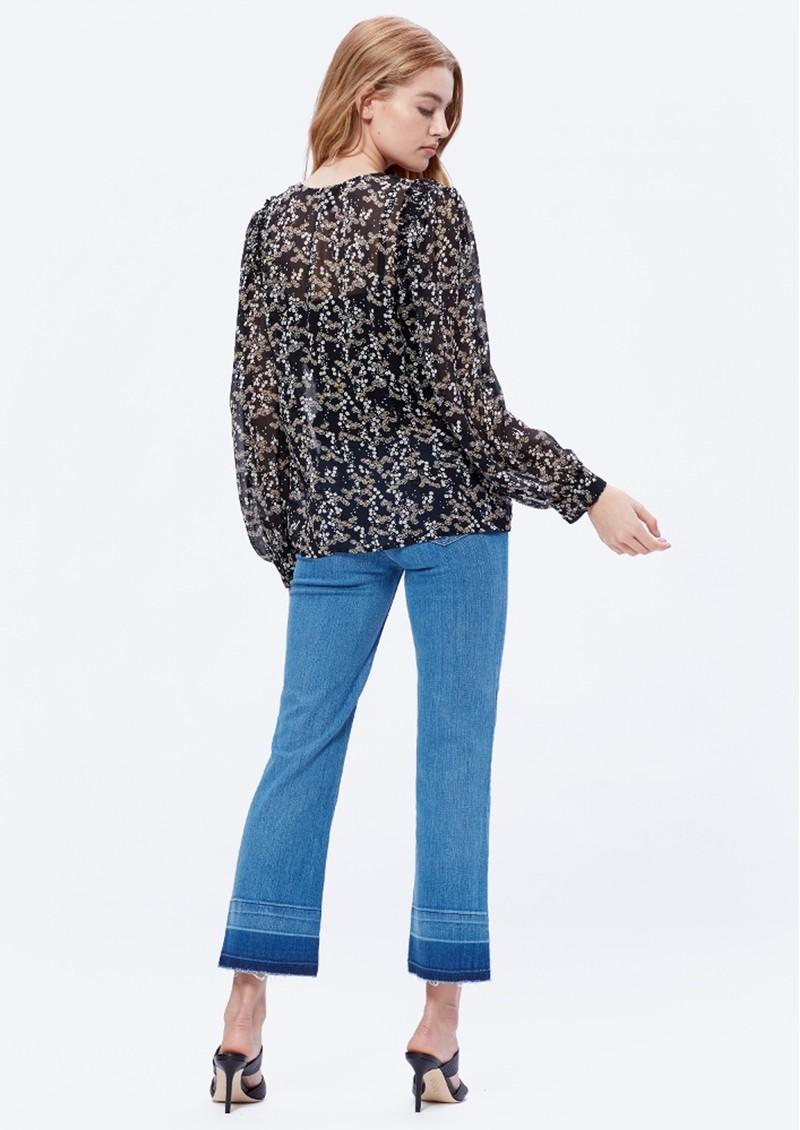 Paige Denim Ambrosine Blouse - Black & Lilac main image