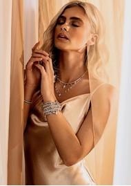 ChloBo Splendid Star Dreamy Night Sky Bracelet - Silver