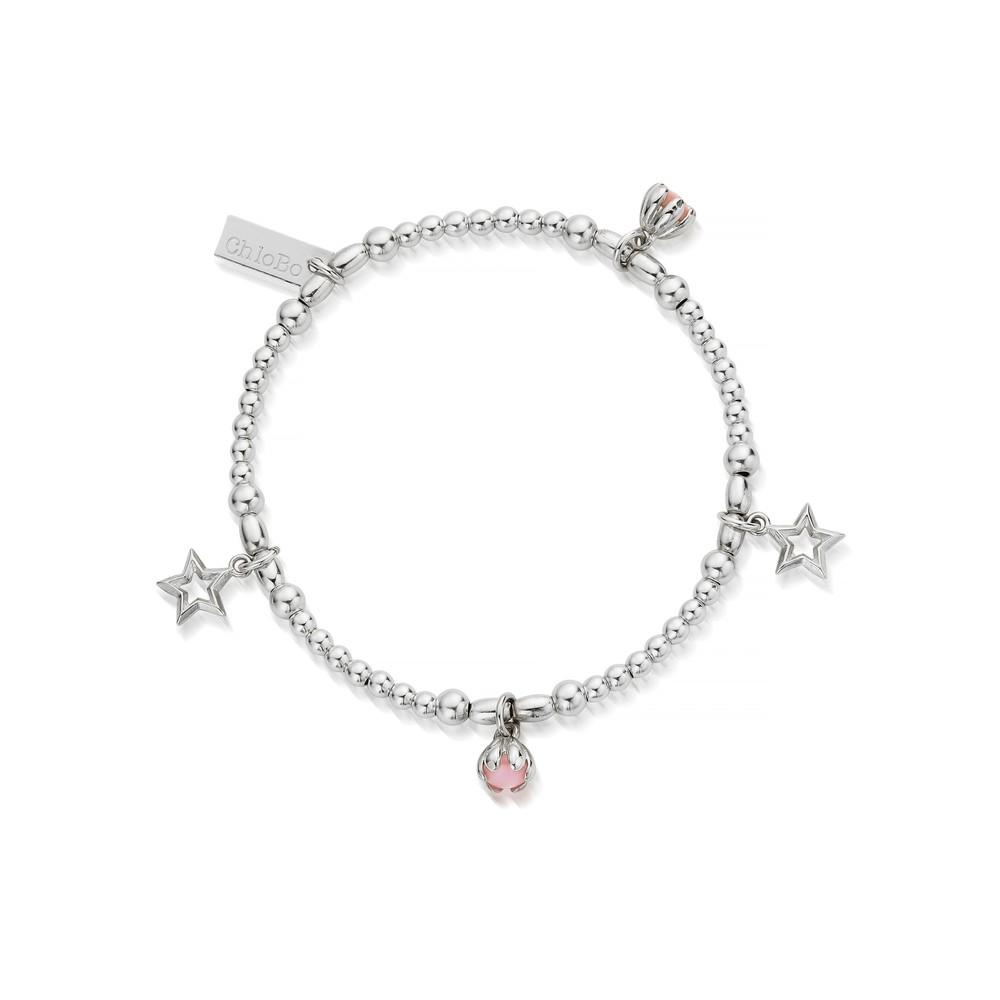 Splendid Star Dreamy Night Sky Bracelet - Silver