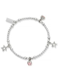 ChloBo Splendid Star Dreamy Night Sky Bracelet - Silver