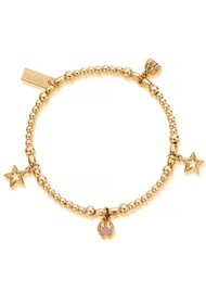 ChloBo Splendid Star Dreamy Night Sky Bracelet - Gold