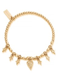 ChloBo Splendid Star Seven Days of Luck Bracelet - Gold
