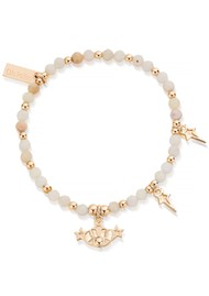 ChloBo Splendid Star Three Days of Luck Bracelet - Gold & Pink Opal
