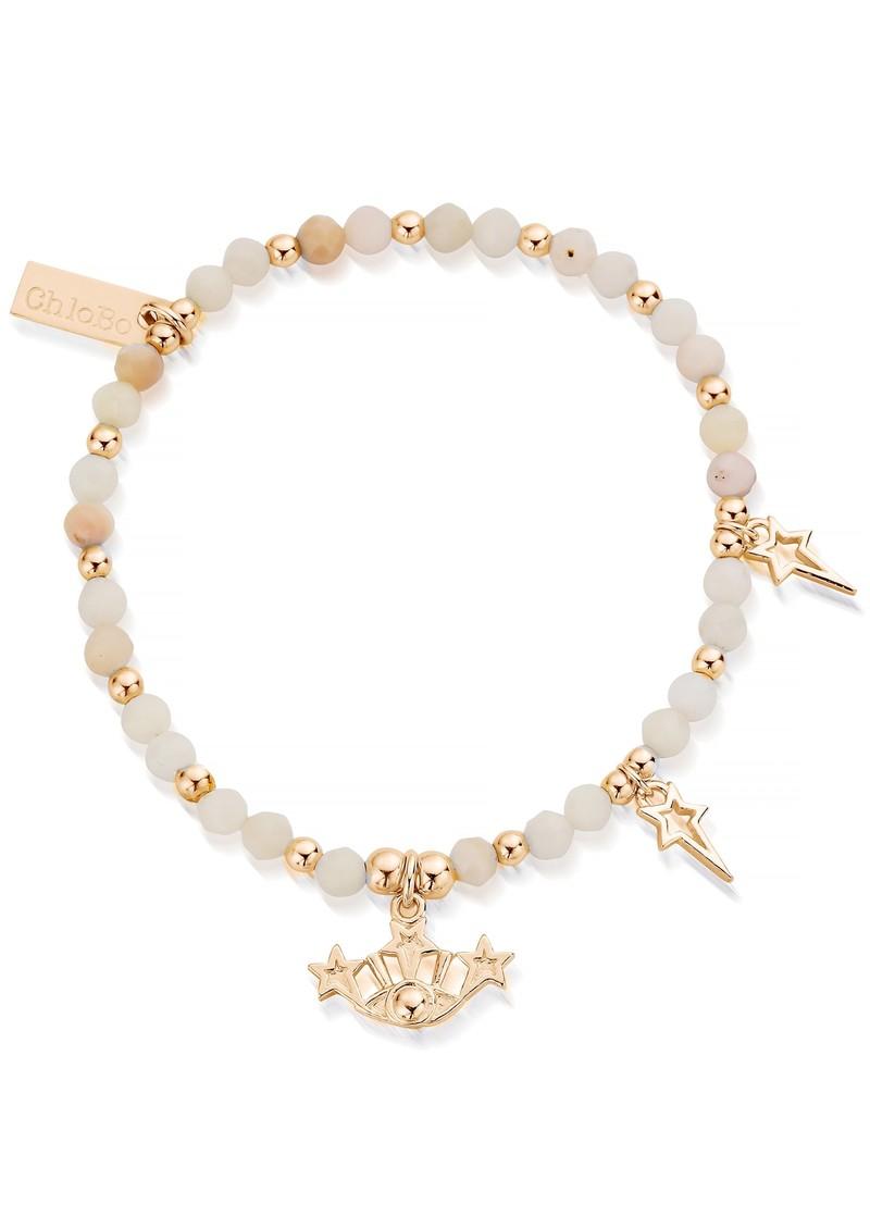 ChloBo Splendid Star Three Days of Luck Bracelet - Gold & Pink Opal main image