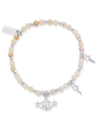 ChloBo Splendid Star Three Days of Luck Bracelet - Silver & Pink Opal