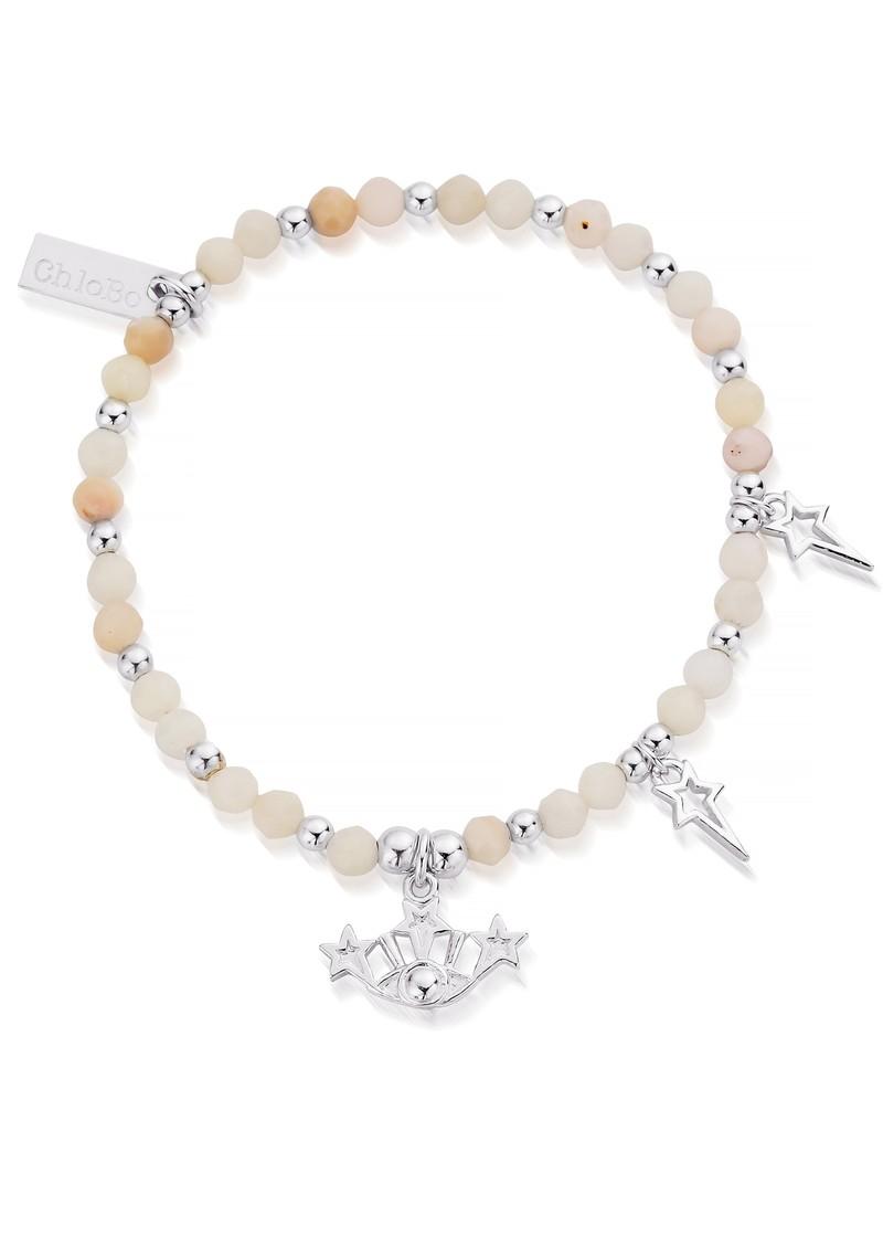 ChloBo Splendid Star Three Days of Luck Bracelet - Silver & Pink Opal main image