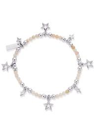 ChloBo Splendid Star Bracelet - Silver & Pink Opal