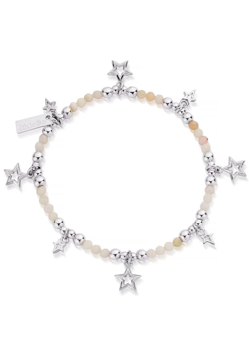 ChloBo Splendid Star Bracelet - Silver & Pink Opal main image