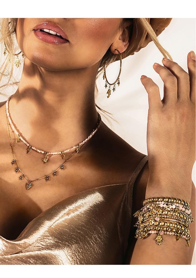 ChloBo Splendid Star Entwined Fate Bangle - Gold main image