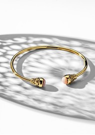ChloBo Splendid Star Pure Luck Bangle - Gold & Pink Opal