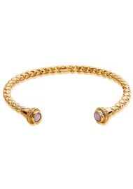 ChloBo Splendid Star Divine Destiny Bangle - Gold & Pink Opal