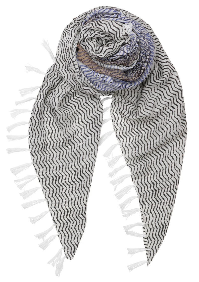 Detailed Snake Scarf - Lavender main image