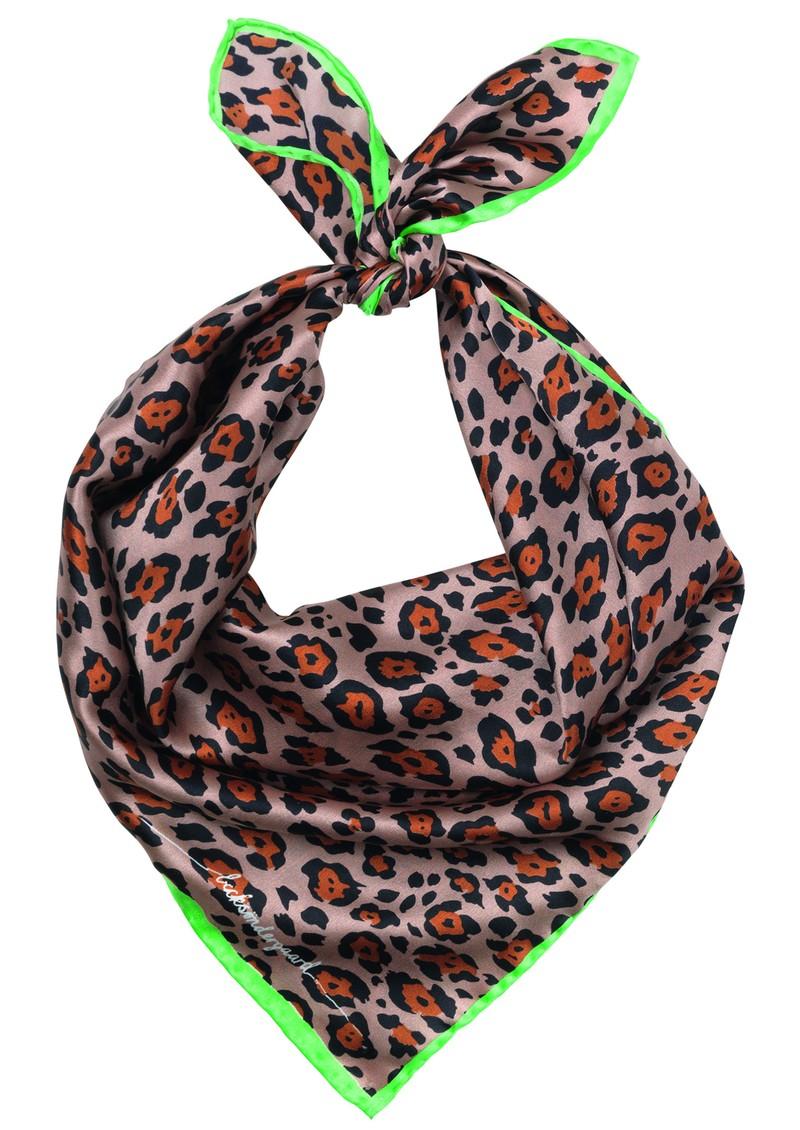 Becksondergaard Demi Silk Leopard Scarf - Soft Beige main image