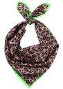 Demi Silk Leopard Scarf - Soft Beige additional image