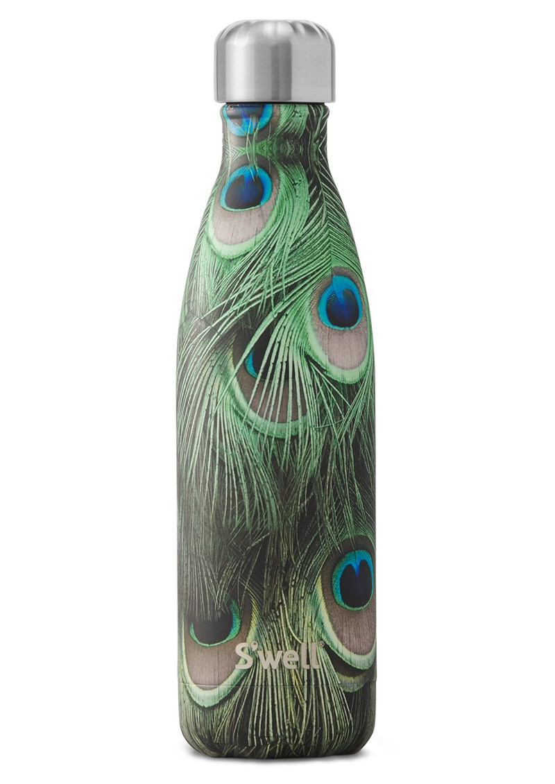 SWELL Flora & Fauna 17oz Water Bottle - Peacock main image