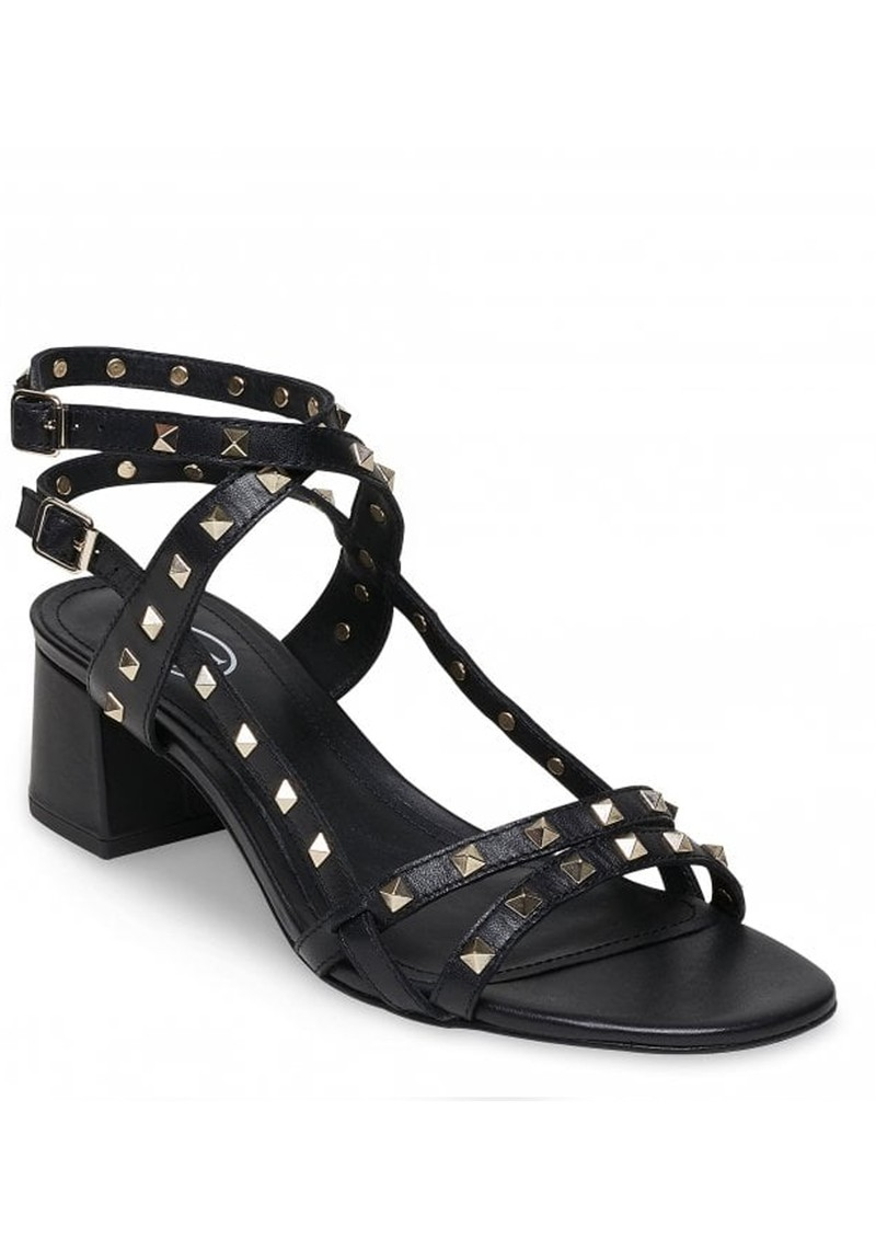 Iman Block Heel Sandal - Black & Gold main image