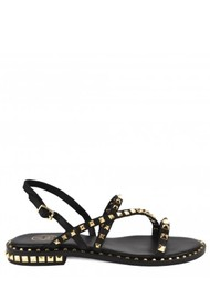 Ash Peace Studded Sandals in Black & Gold