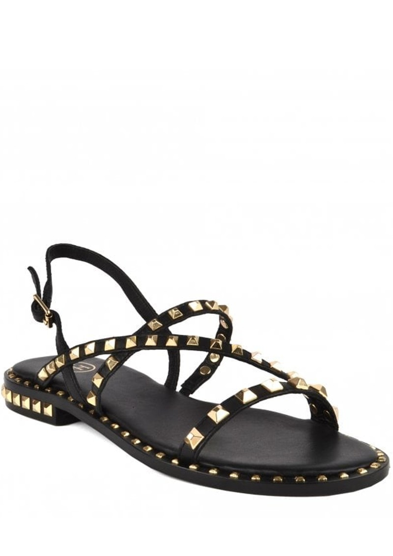 Ash Peace Studded Sandals in Black & Gold main image