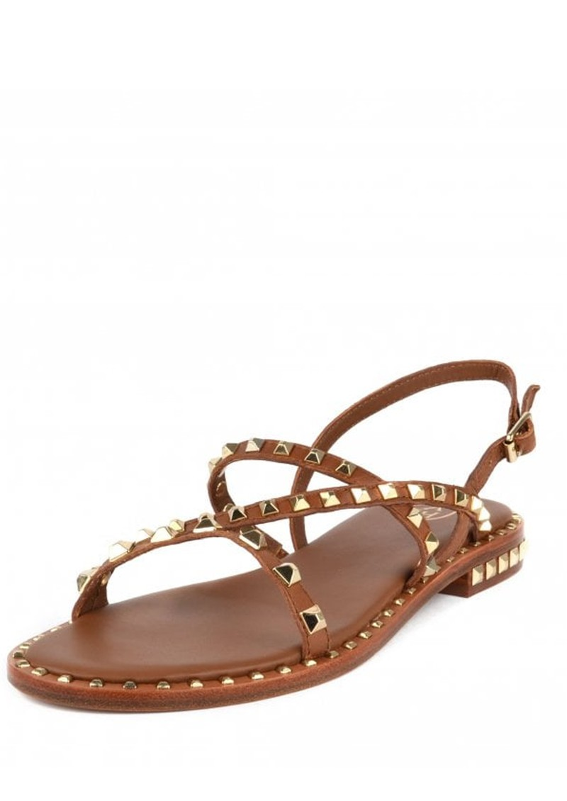 Ash Peace Studded Sandals in Brown & Gold main image