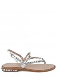 Ash Peps Studded Sandal - Silver Moon