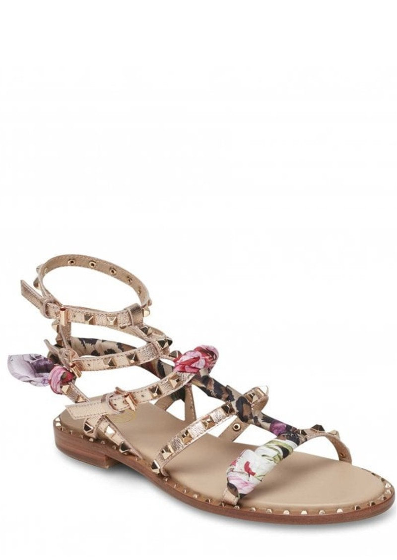 Ash Pax Studded Sandals with A Silk scarf - Rame main image