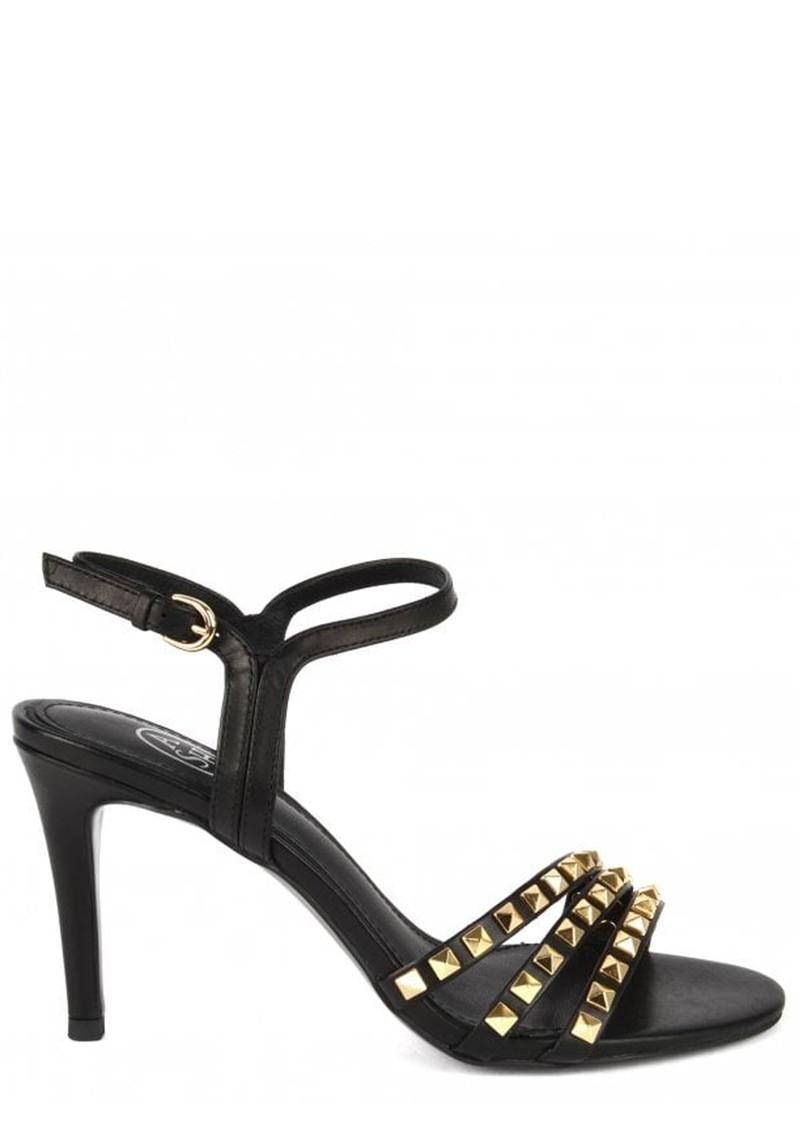 Ash Hello Studded Heeled Sandal - Black & Gold main image