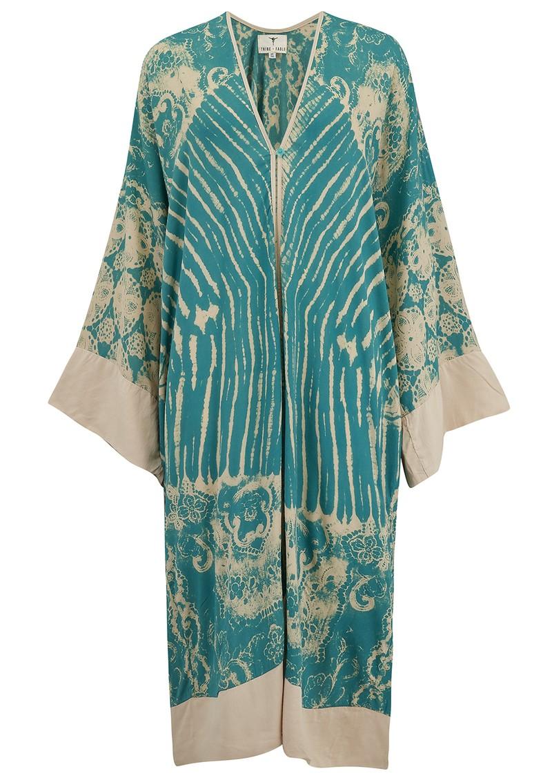 TRIBE + FABLE Paradise Long Kimono - Pagoda Teal main image