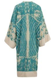 TRIBE + FABLE Paradise Long Kimono - Pagoda Teal