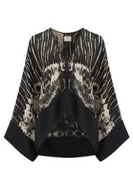 TRIBE + FABLE Paradise Short Kimono - Black