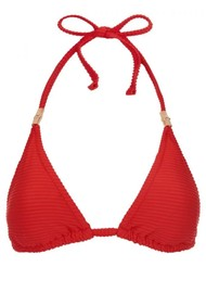 HEIDI KLEIN Puglia Padded Triangle Top - Red