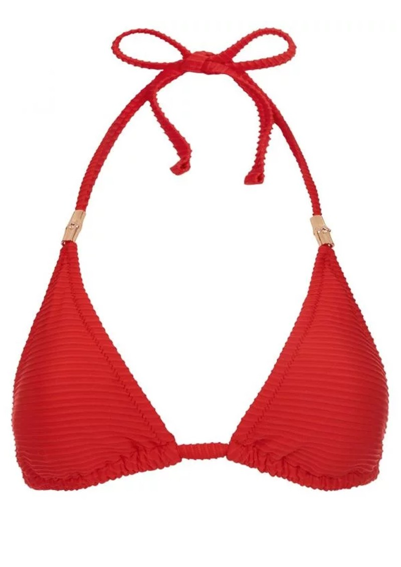 HEIDI KLEIN Puglia Padded Triangle Top - Red  main image