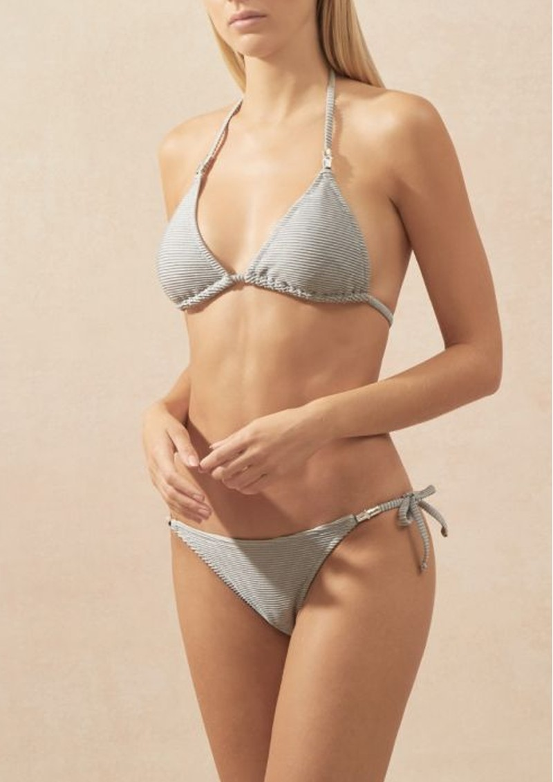 HEIDI KLEIN Helsinki Tie Side Bottom - Silver main image