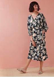 Des Petits Hauts  Tezee Printed Dress - Emeraude