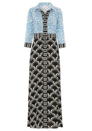 HAYLEY MENZIES Lou Lou Long Shirt Dress - Blue & Black