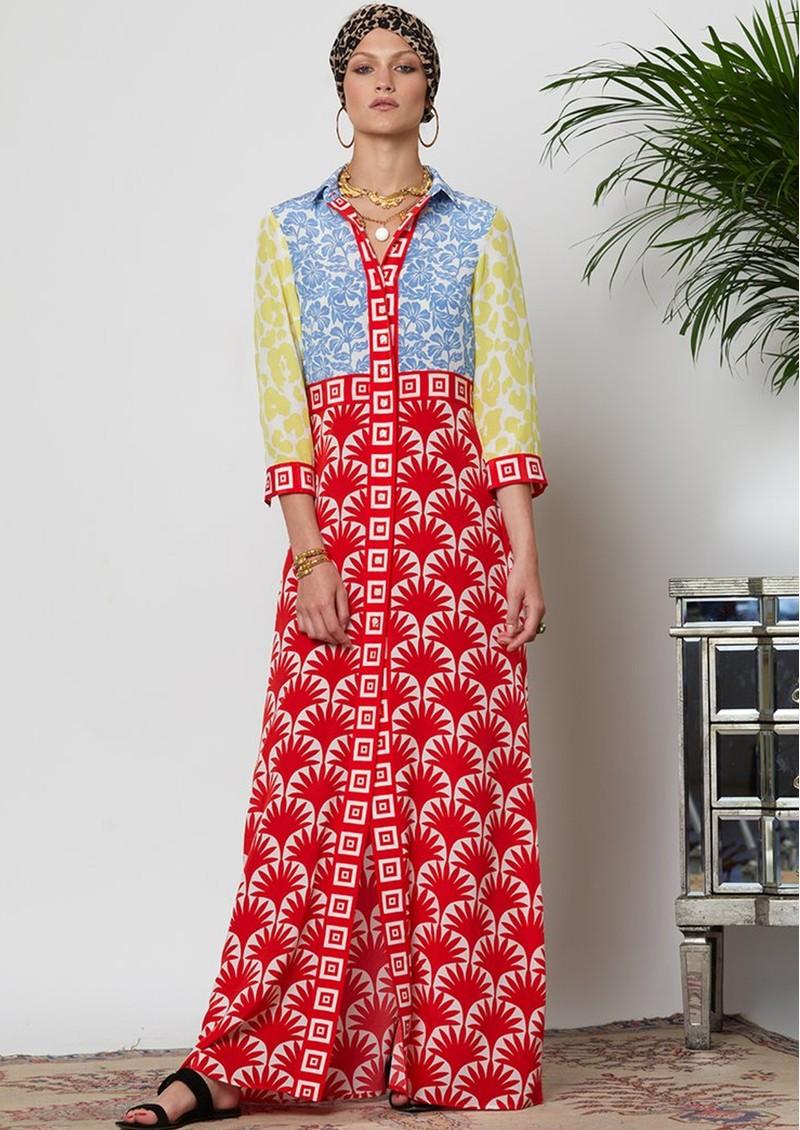 HAYLEY MENZIES Jasmine Long Shirt Dress - Multi main image