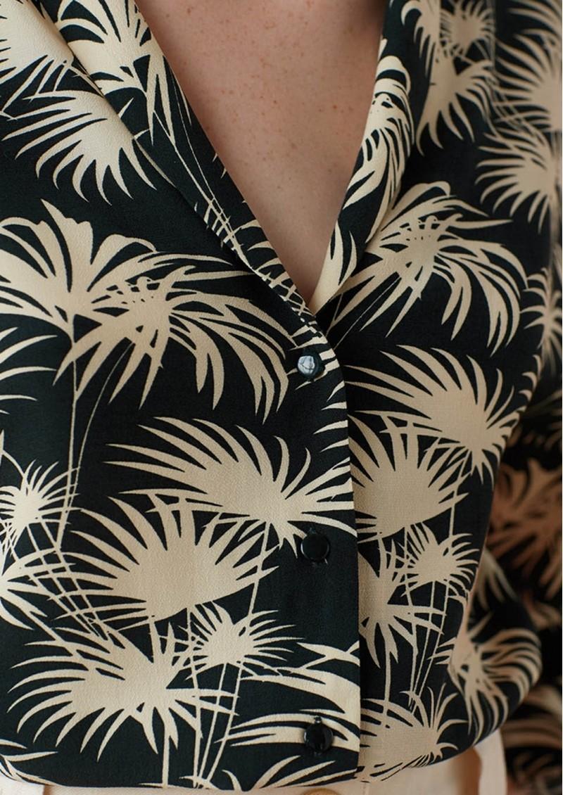 Des Petits Hauts  Teziou Printed Shirt - Emeraude main image