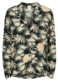 Des Petits Hauts  Teziou Printed Shirt - Emeraude