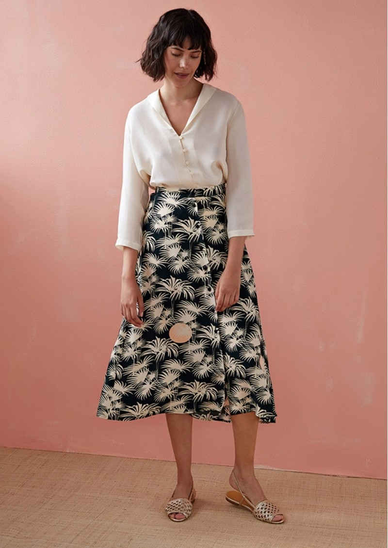 Teziko Printed Skirt - Emeraude main image
