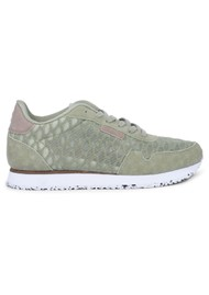 WODEN Nora II Mesh Trainers - Dusty Olive