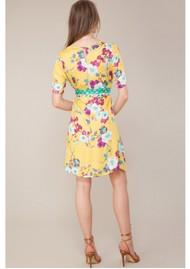 Hale Bob Assumpta Belted Dress - Gold Yellow