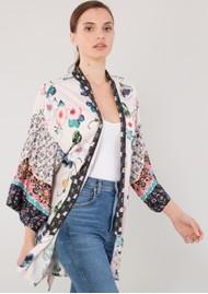Hale Bob Mulan Stretch Satin Kimono - Blush