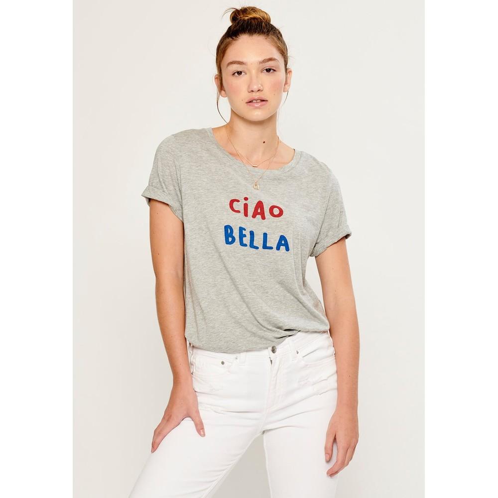 Lola Ciao Bella T-Shirt - Heather Grey