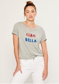 SOUTH PARADE Lola Ciao Bella T-Shirt - Heather Grey