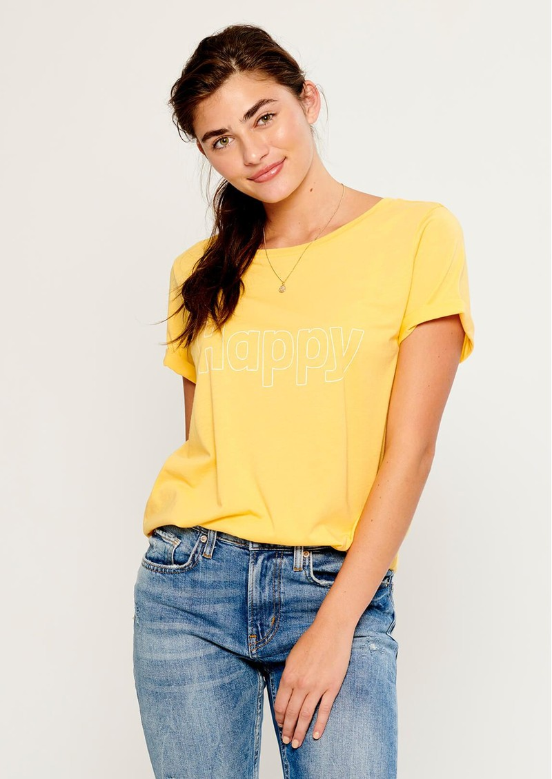 SOUTH PARADE Lola Happy T-Shirt - Yellow main image