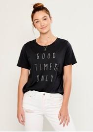 SOUTH PARADE Lola Good Times Only T-Shirt - Smoke Black