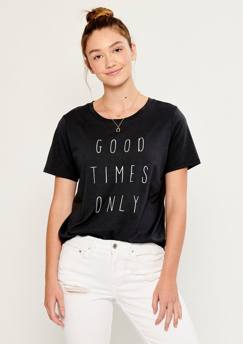 SOUTH PARADE Lola Good Times Only T-Shirt - Smoke Black main image