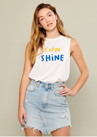 SOUTH PARADE Whitney Sunshine Tank - White