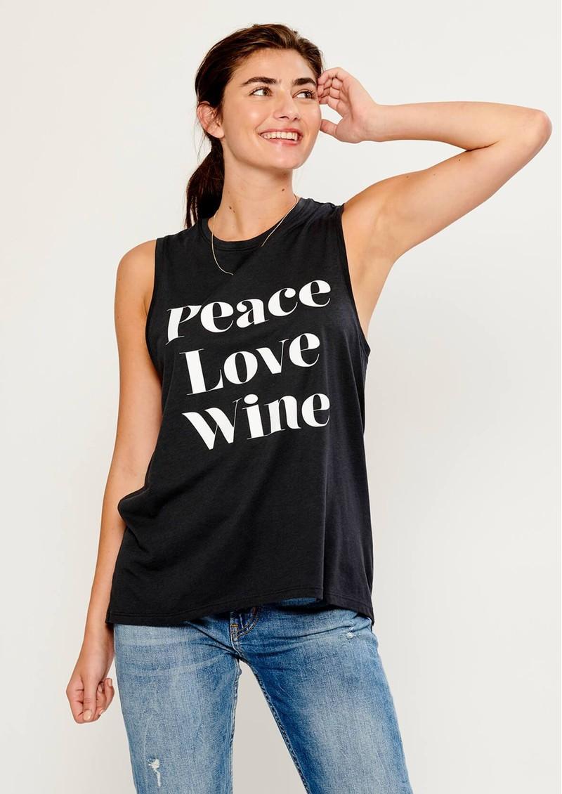 SOUTH PARADE Whitney Peace Love Wine Tank - Smoke Black main image
