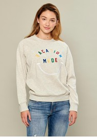 SOUTH PARADE Rocky Vacation Mode Sweatshirt - Heather Grey